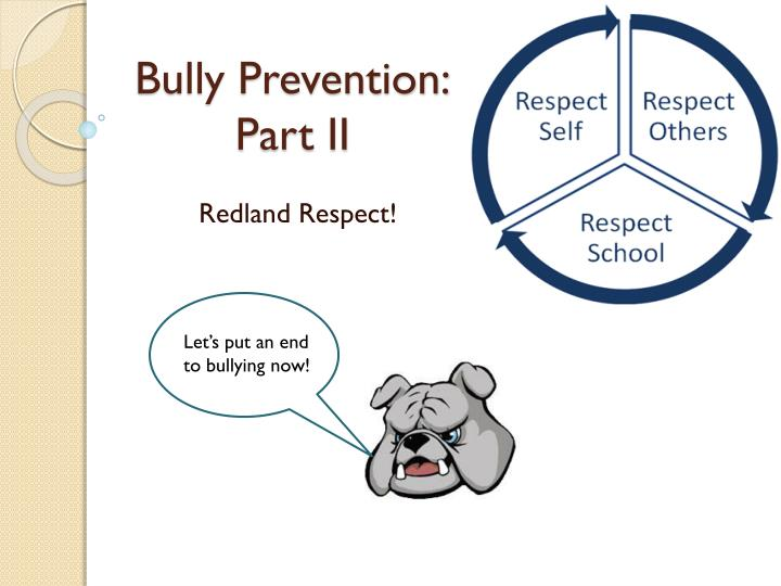 bully prevention part ii n.
