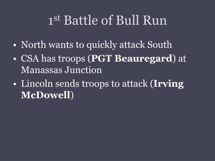 1 st battle of bull run