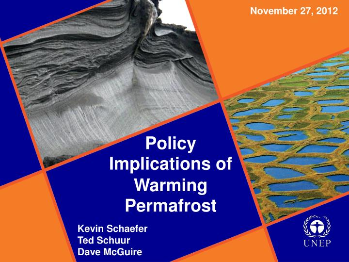 policy implications of warming permafrost n.