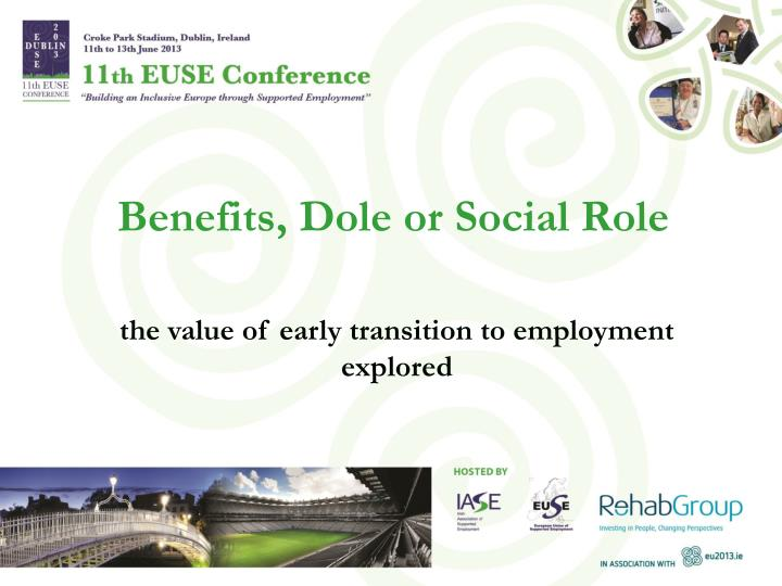 benefits dole or social role n.