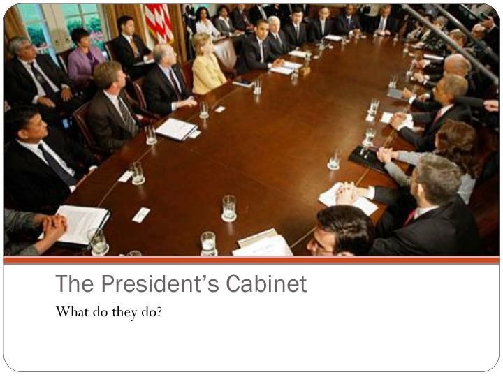 the president s cabinet n.
