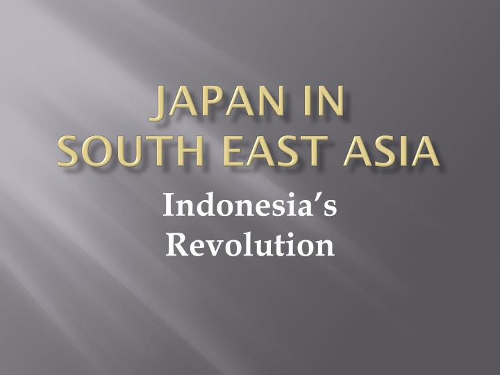 Japan in south east asia