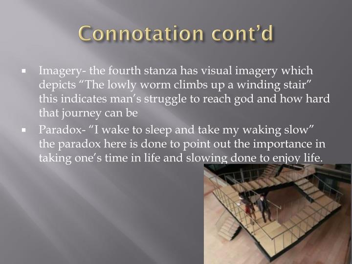 Connotation cont'd
