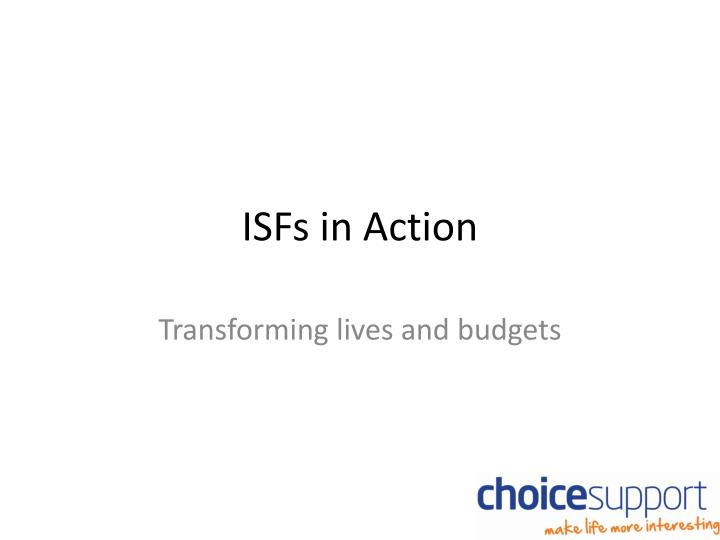 isfs in action n.