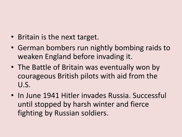 Britain is the next target.