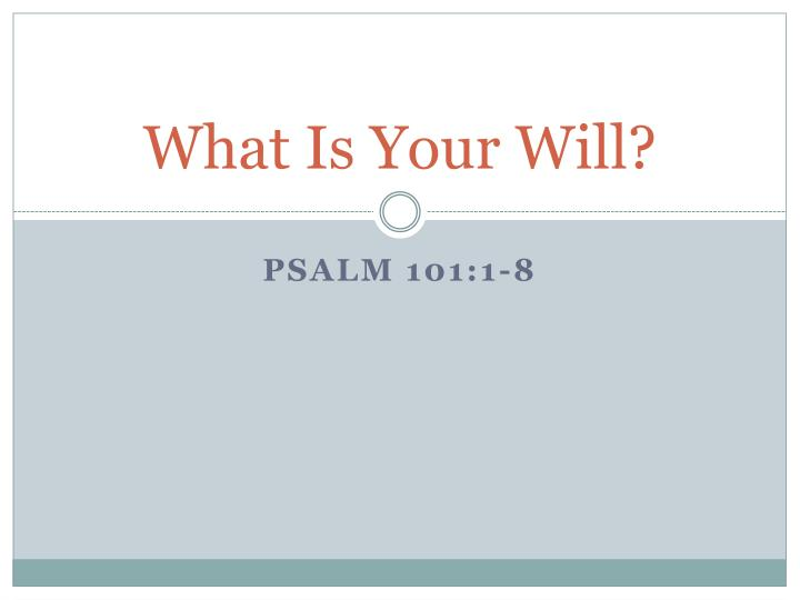what is your will n.