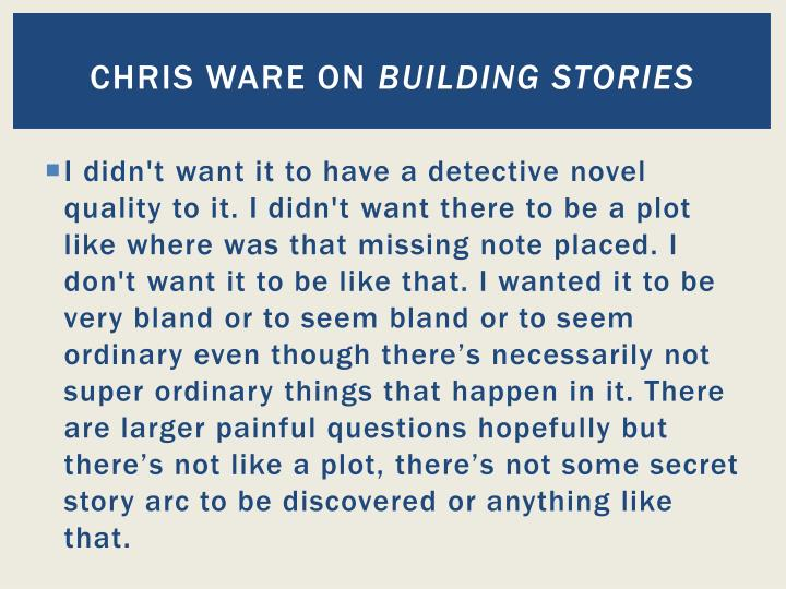 Chris ware on building stories1