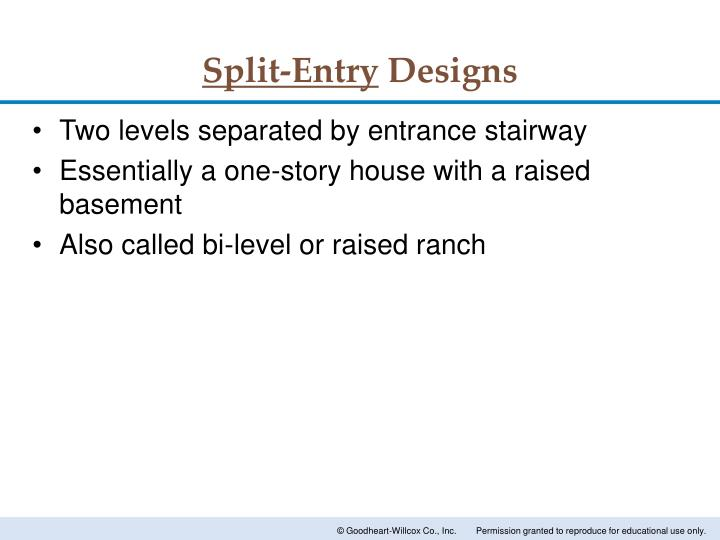 Split-Entry