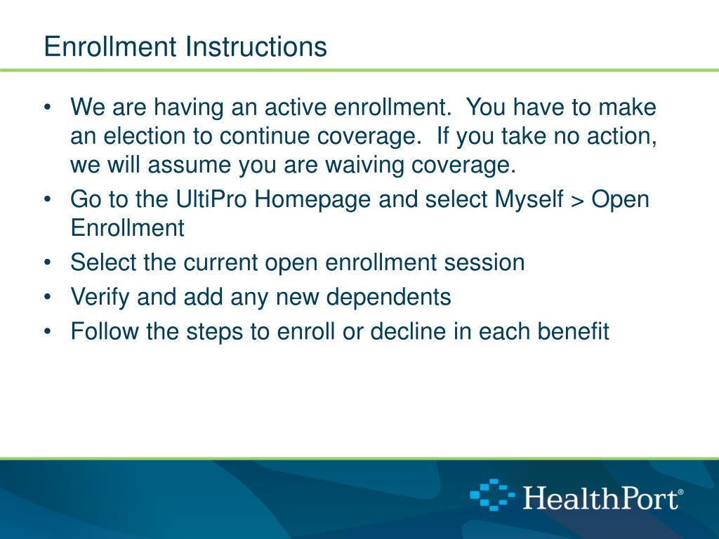 PPT - 2014 HealthPort Open Enrollment PowerPoint Presentation - ID