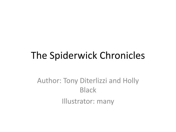 the spiderwick chronicles n.
