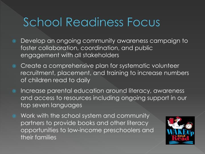 School Readiness Focus