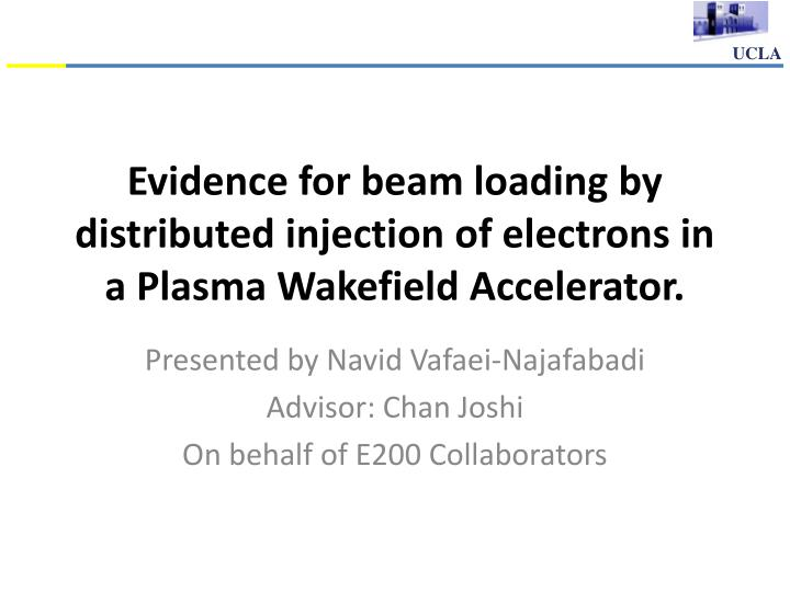 evidence for beam loading by distributed injection of electrons in a plasma wakefield accelerator n.