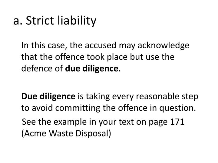 a. Strict liability