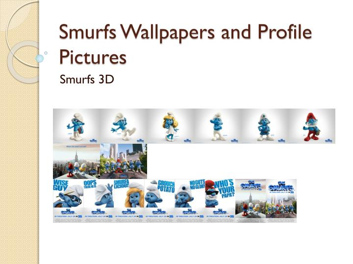 smurfs wallpapers and profile pictures n.