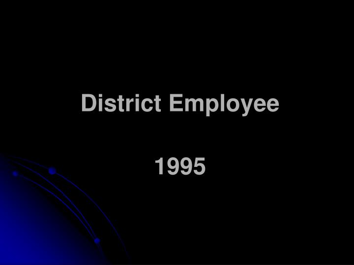 District Employee