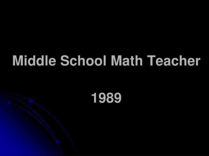 Middle School Math Teacher