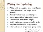 waiting line psychology