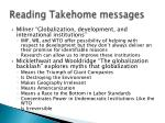 reading takehome messages