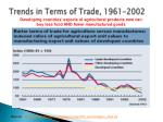 trends in terms of trade 1961 2002