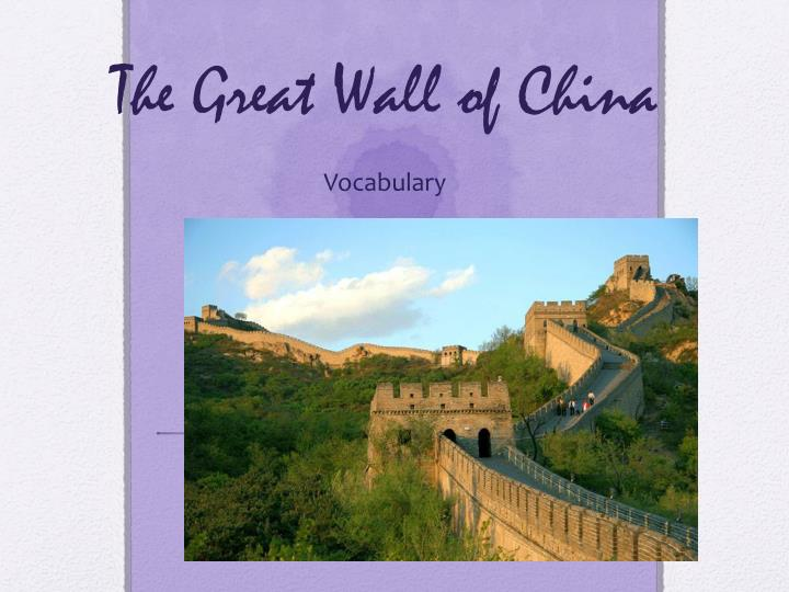 the great wall of china n.