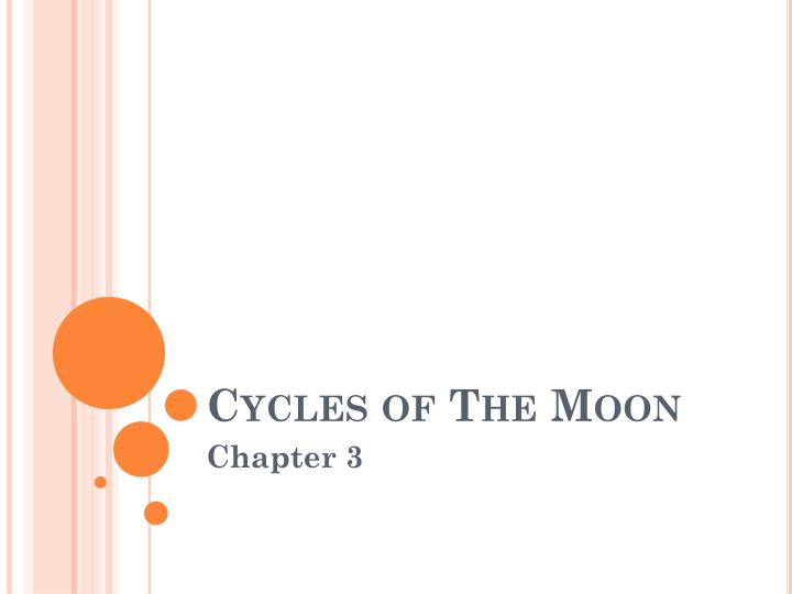 cycles of the moon n.