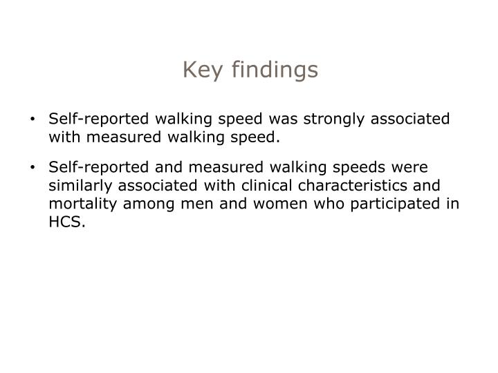 Key findings