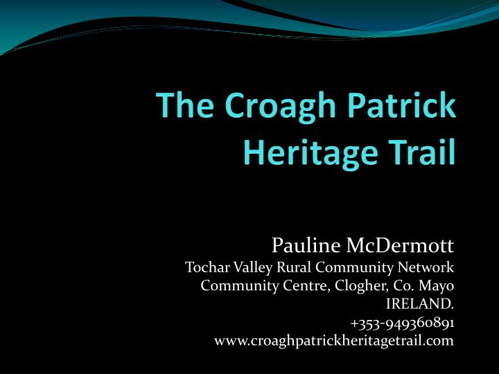 the croagh patrick heritage trail n.