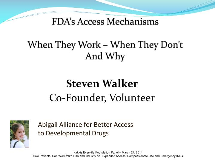 fda s access mechanisms when they work when they don t and why n.