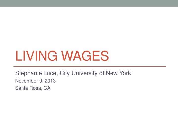 living wages n.