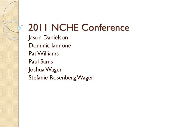 2011 nche conference n.