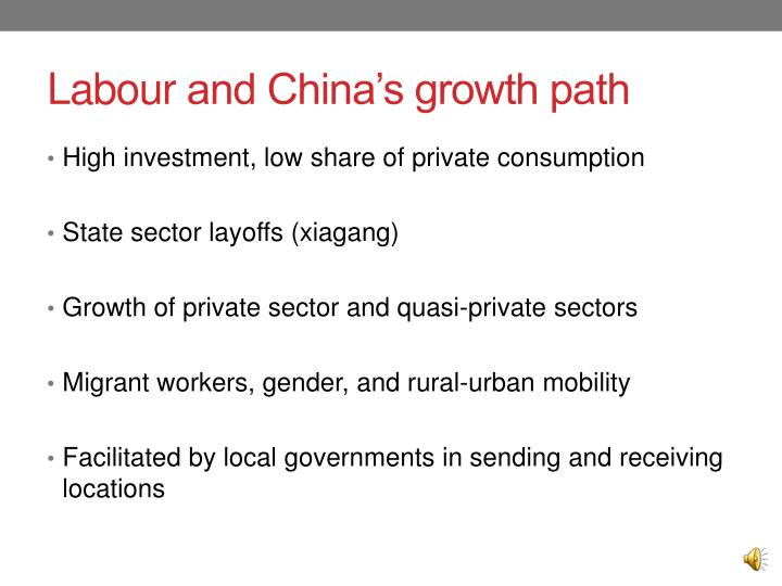 Labour and china s growth path