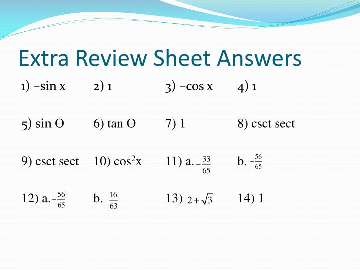 extra review sheet answers n.