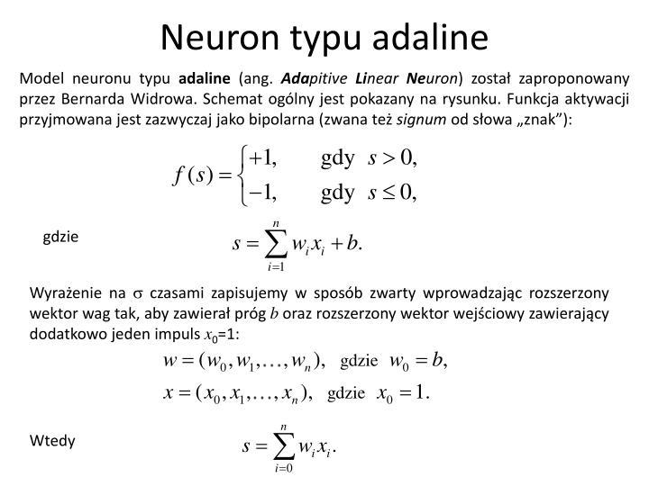 Neuron typu adaline