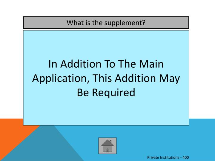 What is the supplement?