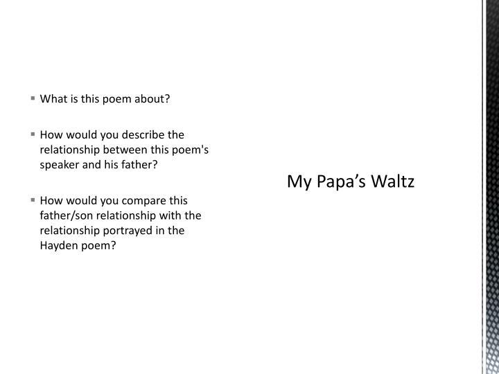 my papas waltz summary