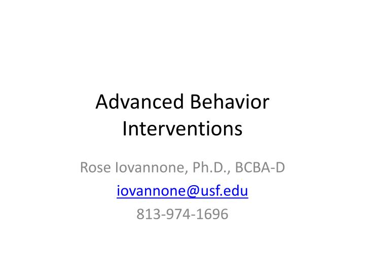 advanced behavior interventions n.