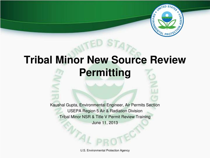 tribal minor new source review permitting n.