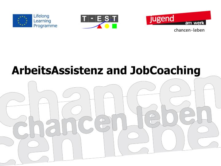 arbeitsassistenz and jobcoaching n.