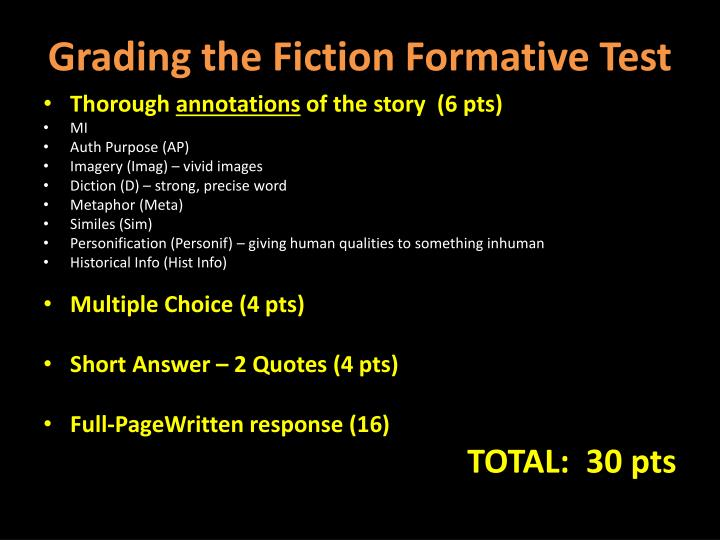 Grading the Fiction