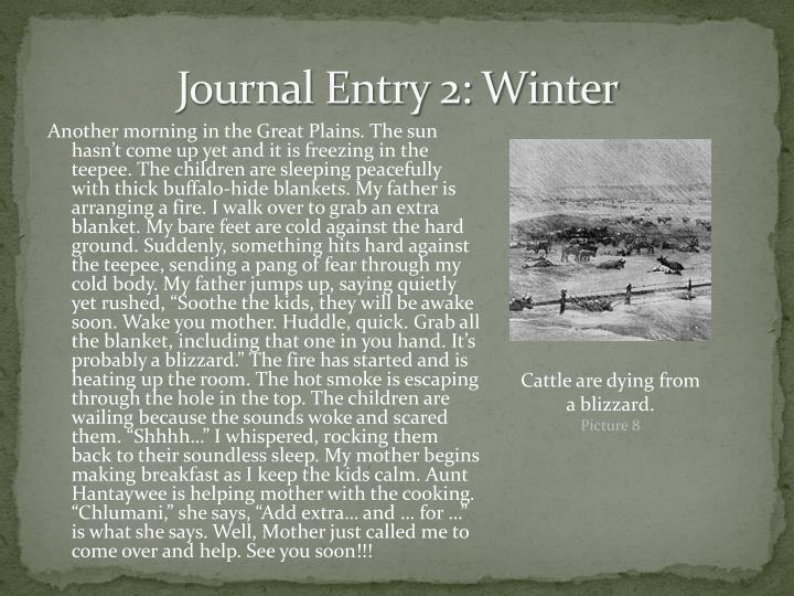 Journal Entry 2: Winter