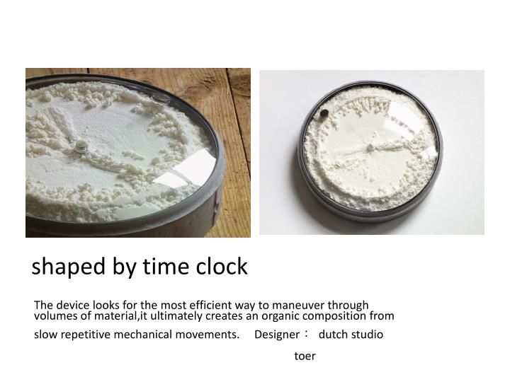 shaped by time clock