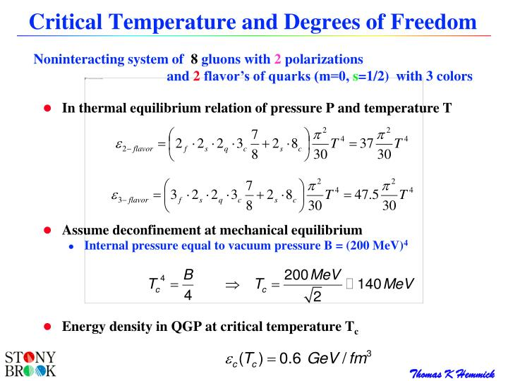 Critical Temperature and Degrees of Freedom