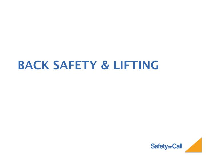 back safety lifting n.