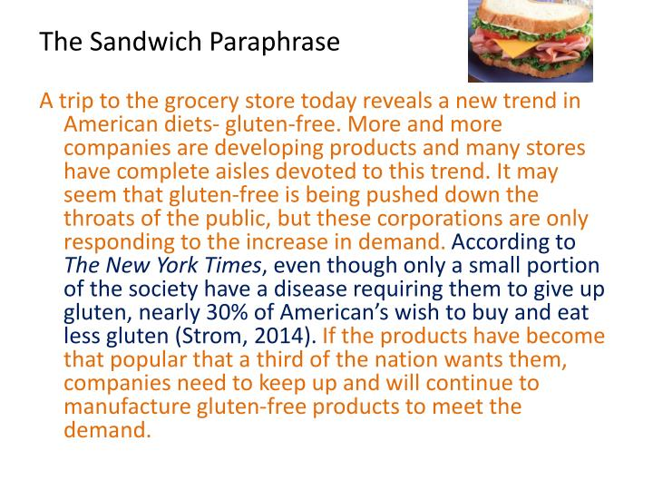 The Sandwich Paraphrase
