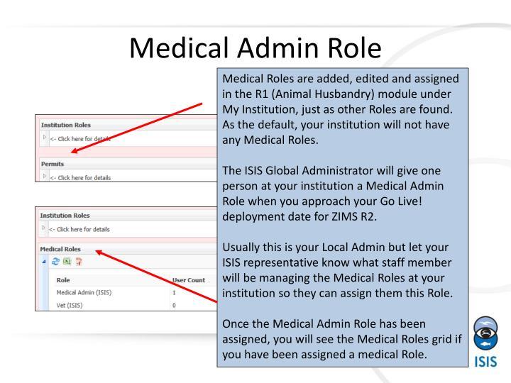 Medical admin role