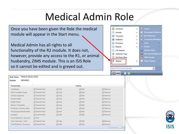 Medical admin role1