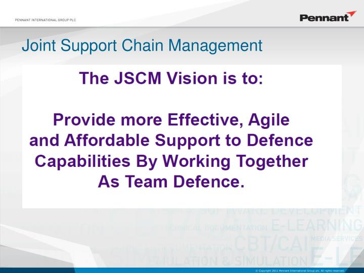 Joint Support Chain Management