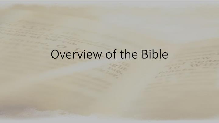 overview of the bible n.