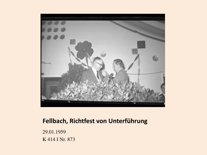 Fellbach, Richtfest von Unterführung