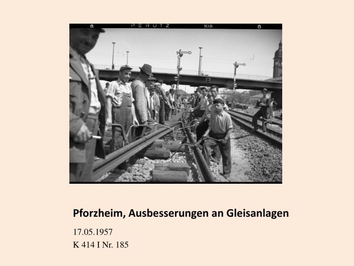 Pforzheim, Ausbesserungen an Gleisanlagen